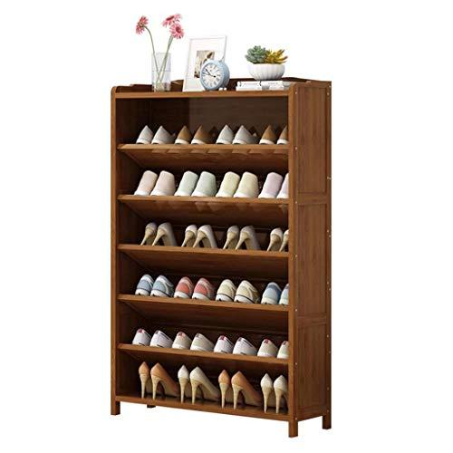 M-YN Zapatero 7-Nivel de bambú de Zapatos de Almacenamiento en Rack, Estante del Zapato de pie Organizador, Libre de pie Zapatos Vitrina, for Puerta de Entrada Dormitorio Pasillo, Tiene 14-28 Pares