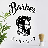 Pegatina de pared para salón de peluquería, decoración de