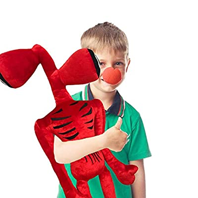 UpdateClassic 27.6 inches Siren Head Plush Toys Halloween Thanksgiving Christmas Party Boys and Girls Gift (Red Large)