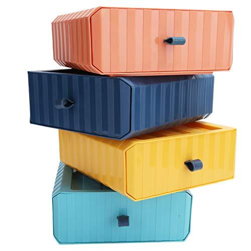 Caja de almacenamiento Ranuras Caja de almacenamiento de escritorio jerárquica Colocación libre Caja de almacenamiento de plástico Cajón Organizador de escritorio Espacio de almacenamiento