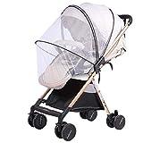 Zanzariera universale per carrozzina/passeggino, extra large, maglie sottili, antistrappo e lavabile, protezione ideale da vespe e zanzare