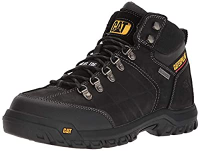 Caterpillar Men's Threshold Waterproof Steel Toe Industrial Boot, Black, 12 M US