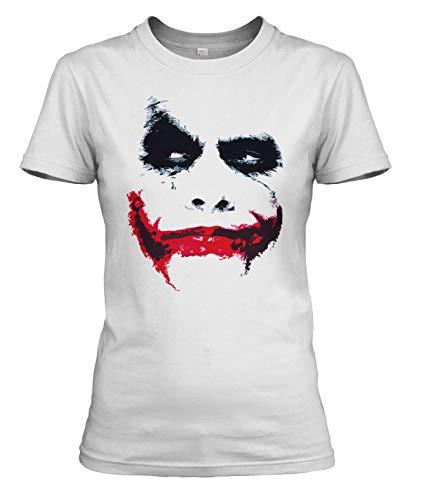 net-shirts Joker Distorted Damen T-Shirt, Größe L, Weiß