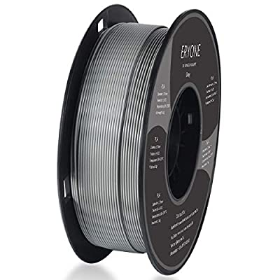 PLA Filament 1.75mm, ERYONE Filament PLA 1.75mm, 3D Printing Filament PLA for 3D printer, 1kg 1 Spool, Gray