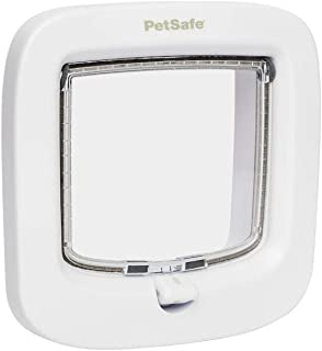 PetSafe PPA19-16732 Puerta para Gatos De Bloqueo Manual (Blanco)