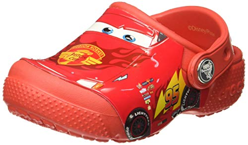 Crocs Fun Lab Cars Clog Kids, Niños Zueco, Rojo (Flame), 27-28 EU