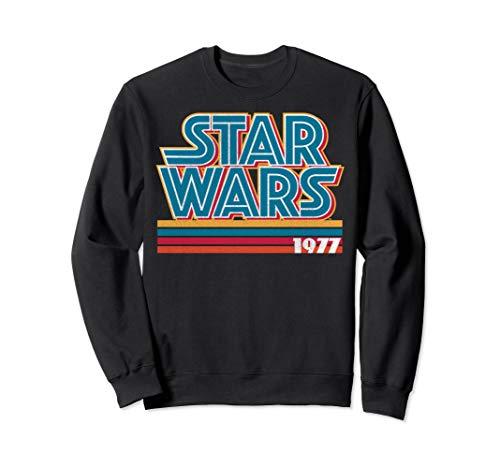 Star Wars 1977 Retro Stripes Logo Sweatshirt for Men, Women, S to 2XL