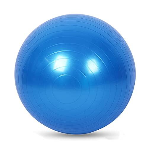 JSBAN Bola de Yoga 75cm Ball Fitness Pilates Ejercicio Inicio Gimnasio Yoga Ejercicio Ejercicio Equipo de Entrenamiento Bolas de Equilibrio (Color : 65CM Blue)