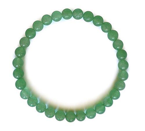 Avventurina verde braccialetto, naturale, cerchio, 6mm