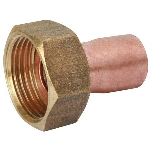 SOMATHERM FOR YOU - Raccord cuivre à souder - Raccord droit Ø28 écrou tournant laiton 26/34