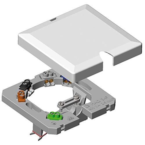 WITTKOWARE Herdanschlussdose, Unterputz, mit Schraubklemmen bis 5x4 mm² (Nenn-Anschlussquerschnitt 2,5 mm²), Höhe nur 12 mm, weiß