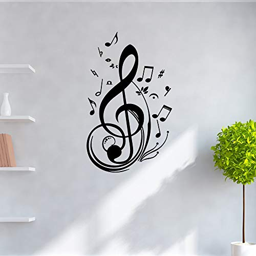 Música pegatinas de pared de guardería calcomanías artísticas habitación de niños decoración de la naturaleza accesorios de decoración murales pegatinas de pared A4 43x70cm