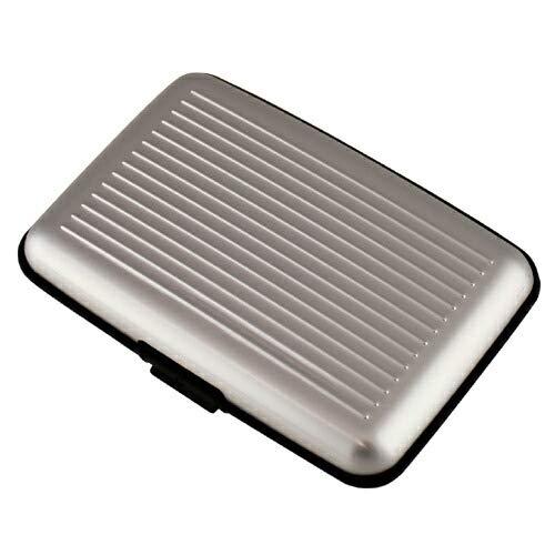 アルミ カードケース シルバー アタッシュ スーツケース風 名刺入れ ワンタッチ開閉