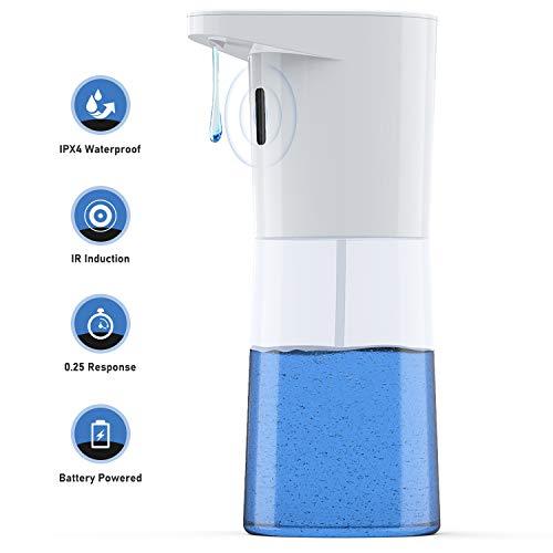 FamBrow Automatisch Desinfektionsspender 500 ml Automatischer Seifenspender mit No-Touch Desinfektionsmittel Spender für Toiletten, Hotels, Krankenhäusern, Restaurant