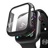 pzoz Apple Watchシリーズ5/シリーズ4ケース スクリーンプロテクター 40mm アクセサリー スリムガード 薄型バンパー フルカバー マットハードカバー ディフェンスエッジ レディース メンズ 新世代 GPS iWatch 40mm