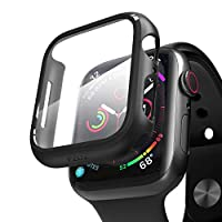 COMPATIBLE: Compatible with Apple Watch Series 6 /5 /4 /SE (44mm). Ultra-thin PC protective case with screen protector allows quick and easy installation, Perfect fit for your watch. MATERIAL: Durable PC & PET material cover the screen and edges. Ful...