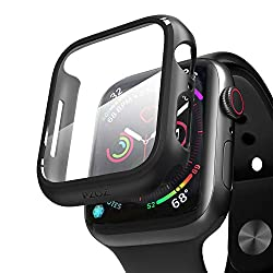 Applicable models:Apple watch Series 5 / Series 4 44mm Smartwatch. Perfect fit for all-round protection Materials: This product Case is made of high-quality PC material and is not easy to damage. The film is made of PET, which has good contact with t...
