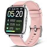 """Sudugo Smartwatch Mujer, 1,69"""" Táctil Completa Reloj Inteligente con Monitor de Sueño, Pulsómetro, Cronómetro, Calorías Podómetro Impermeable IP67 Pulsera Actividad Inteligente para Android iOS, Rosa"""