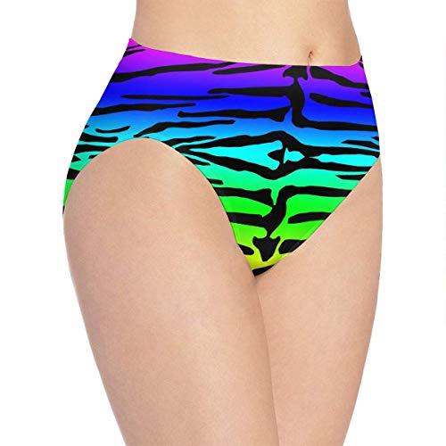 XCNGG Bragas Ropa Interior de Mujer Rainbow Colorful Tiger Pattern Underwear Women Ladies Briefs Comfortable Panties for Women