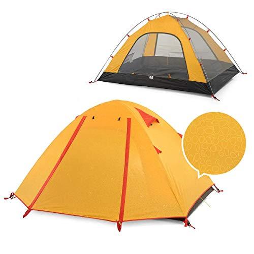 Ji Yun Campingzelt Doppel Aluminium Pole im Freienzelt-Camping UPF50 + Anti-UV PU2000 Wasserdicht (Farbe : Yellow)
