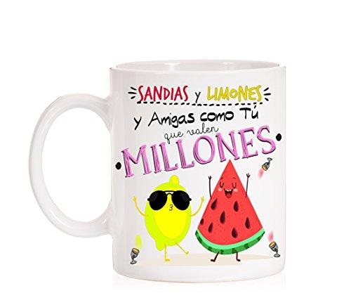 Taza Sandías y Limones y Amigas como tú Que Valen Millones. Taza...