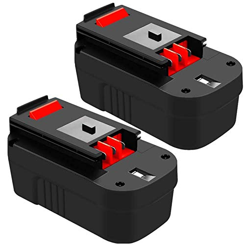 4.0Ah Ni-Mh HPB18 Battery Replacement for Black and Decker 18 Volt Battery 244760-00 A1718 FS18FL FSB18 Firestorm Cordless Power Tools 2 Packs