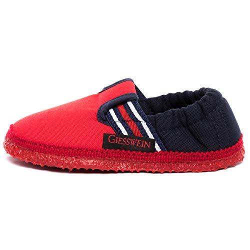 Giesswein Aichach, Pantofole a Collo Basso Unisex-Bambini, Rosso (Feuer 312), 29 EU