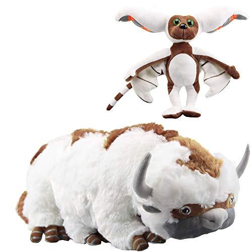 Skpitin Avatar the Last Airbender 18' Appa & 11'' Momo Plush Set of 2 pcs for Kids Christmas New Year Gift Birthday Gift