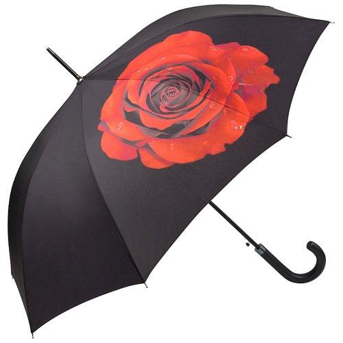 VON LILIENFELD Regenschirm Blume Rose Auf-Automatik Sonnenschirm Stabil Hochzeitsschirm Brautschirm