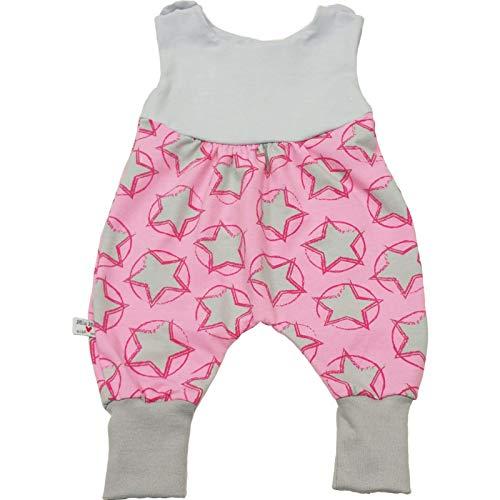 Atelier MiaMia - Mitwachs Strampler einzeln oder als Set Baby Kind von 50, 56, 62, 68, 74, 80, Designer Strampler Limitiert !! Rosa Sterne Mädchen