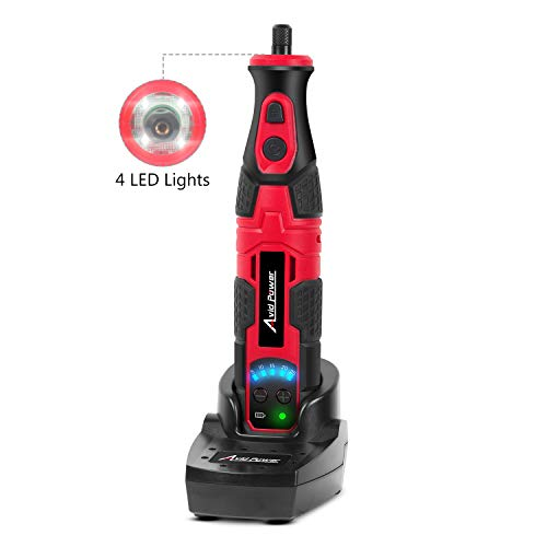 Cordless Rotary Tool Kit 8V with Quick-Charge Docking Station, 5-Speed and 21pcs Accessories Kit for Carving, Engraving, Sanding, Polishing and Cutting, Avid Power