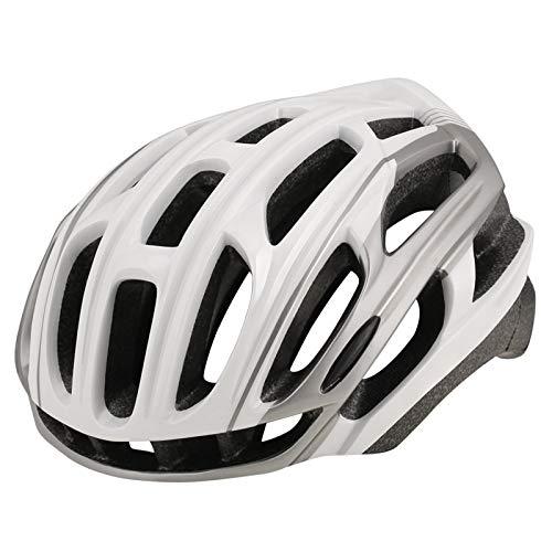 HVW Adultos Bicicletas para Bicicletas Cascos, Cascos De Montaña Cascos con Alumno De Seguridad Luz Trasera De Una Pieza Moldeado De Una Pieza Tamaño Ajustable Unisex Protected Cycle Casco,C