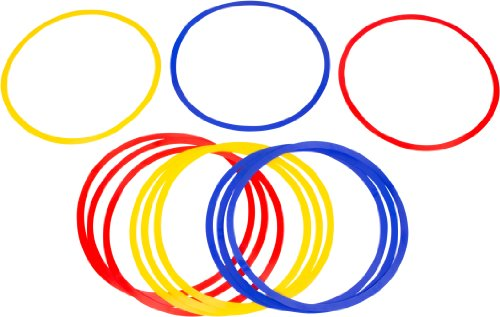 Trademark Innovations Speed and Agility Training Rings (Set of 12)