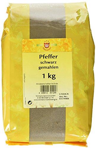 Wichartz Würzkönig Pfeffer schwarz gemahlen, 2er Pack (2 x 1 kg)
