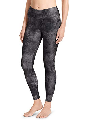 Jockey Women's Performance Printed Ankle Legging, Scratched Marble-Deep Black, Medium