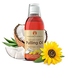 Our Non GMO, Alcohol Free, Fluoride Free, Preservative Free, & Artificial Flavor Free Oil Pulling was formulated with ayurvedic knowledge to promote healthy weight management, better breath, healthier teeth and gums, thicker and more lustrous hair, a...