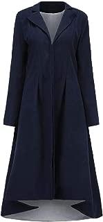 Macondoo Women Fashion Goth Outwear Lapel Tuxedo Steampunk Pea Coats