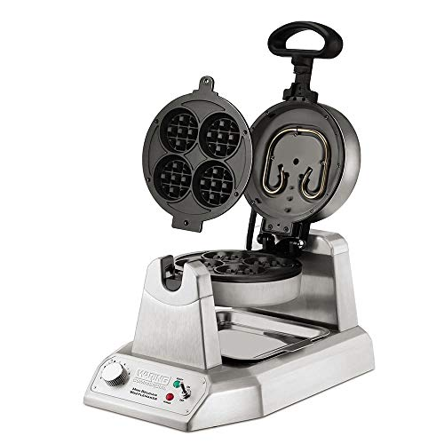 Best Price! Waring WMB400X Single Mini Belgian Waffle Maker w/Cast Aluminum Grids