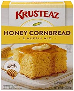 Krusteaz Honey Cornbread and Muffin Mix - No Artificial Colors, Flavors or Preservatives - 15 OZ (Pack of 3)