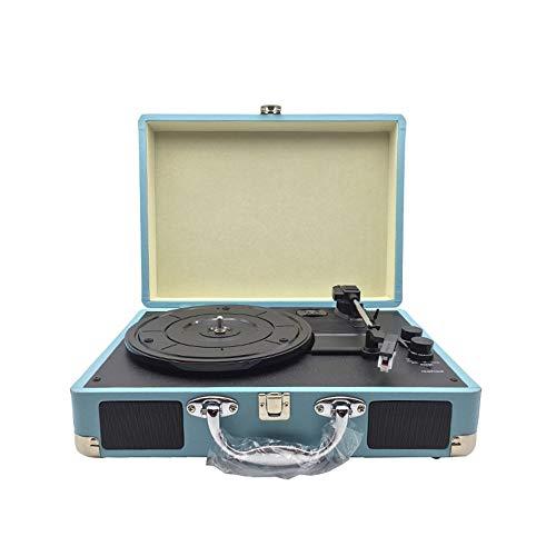 Altavoces Bluetooth Vintage Vintage Vinilo Fonógrafo multifuncional Tocadiscos portátil Máquina de grabación...