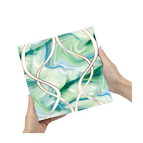 ZSFBIAO Pegatinas de Azulejos Autoadhesivo Azulejos Adhesivos Hojas de Pegatinas Azulejos Autoadhesivo Arte Mural Vinilo Decoración (Size:20cm*20cm,Color:40pcs)