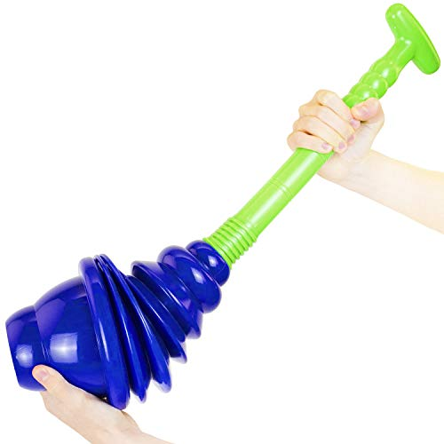 Luigi's Toilet Plunger: Powerful Toilet Unblocker to fit All Toilets, Clears and unblocks with a Powerful Bellows Action (2020 Heavy Duty Version)