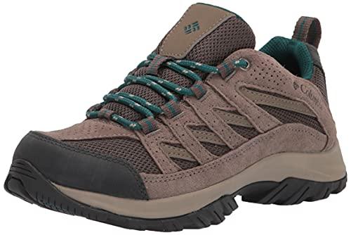 Columbia Women's Crestwood Hiking Shoe, Mud/River Blue, 10.5