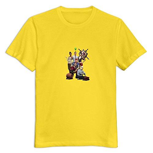 TEC&KIM SimCity 4 Geek 100% Cotton T Shirts For Adult