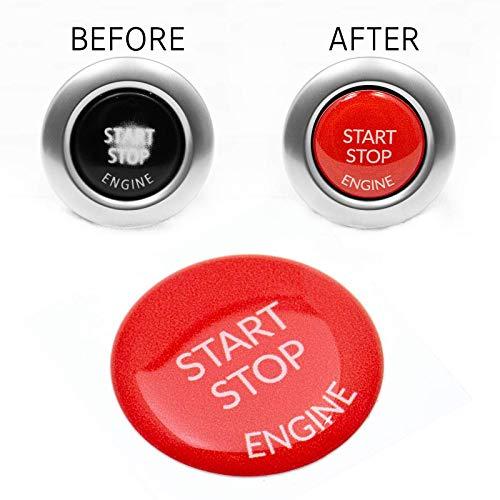 Start Stop Engine Knopf Aufkleber (1 Stück) Reparatur Schalter Schutz Kappe Austausch Taste Tastenabdeckung zündschlüssel Cover Zündung Rot