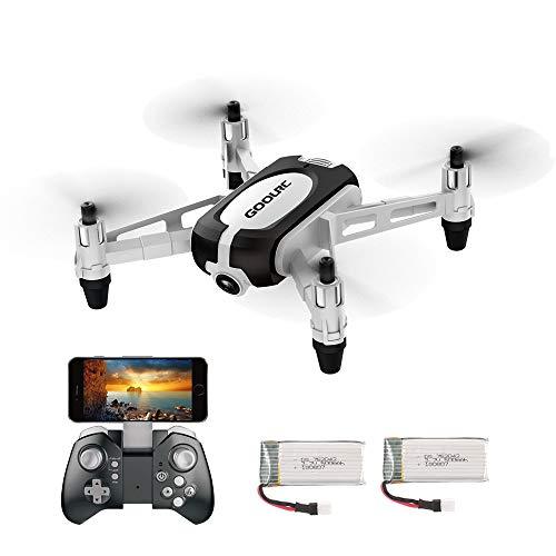 GoolRC Mini Drohne T700 mit 720P FPV Kamera RC Quadrocopter ferngesteuert mit automatische Höhenhaltung Headless Modus WiFi Kamera One Key Start/Landung App Funktion für Anfänger und Kinder