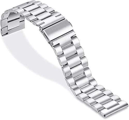 Correa de reloj de 0 / mm para Huawei Watch GT / GT / GT E / Samsung Galaxy Watch 3 / Gear S3 / Withings Steel HR Correa de reloj de acero inoxidable