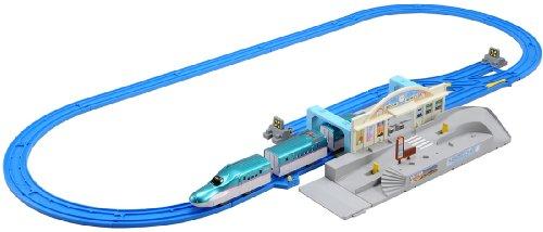 プラレール 連結! E5系 はやぶさ&トミカ駅前ロータリーセット