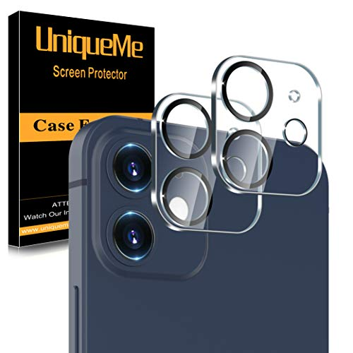 "[ 2 Pack] UniqueMe Camera Lens Protector Compatible with iPhone 12 6.1"" [Not for iPhone 12 Pro] Tempered Glass, [Night Circle] [Case Friendly] [Ultra-thin][Scratch-Resistant]"