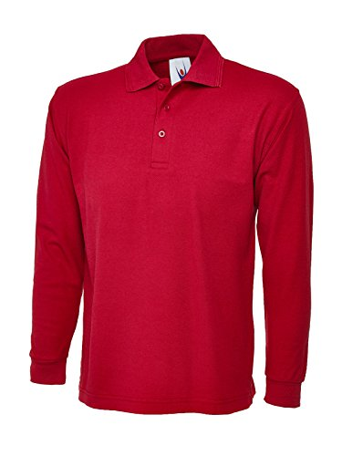 Uneek clothing - Polo - Manches Longues - Homme Rouge rouge Large